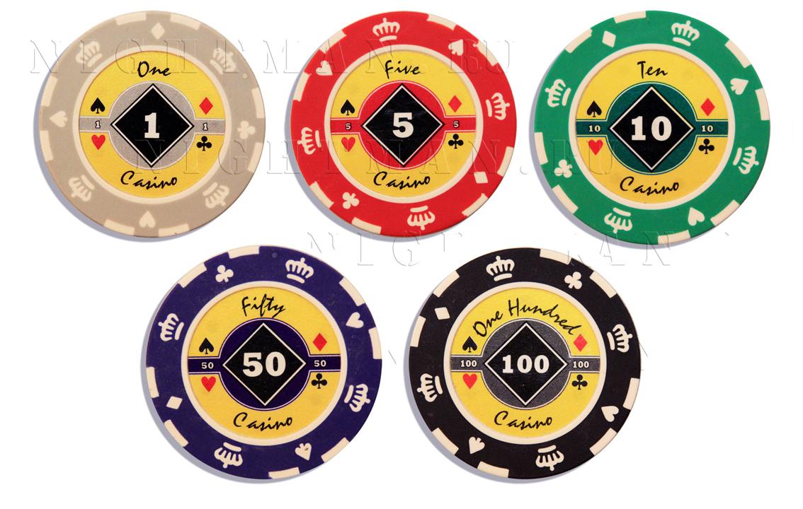 Покерные фишки CROWN 14гр