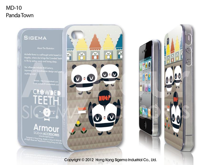 "Чехол для iPhone 4/4s ""Panda Town"""
