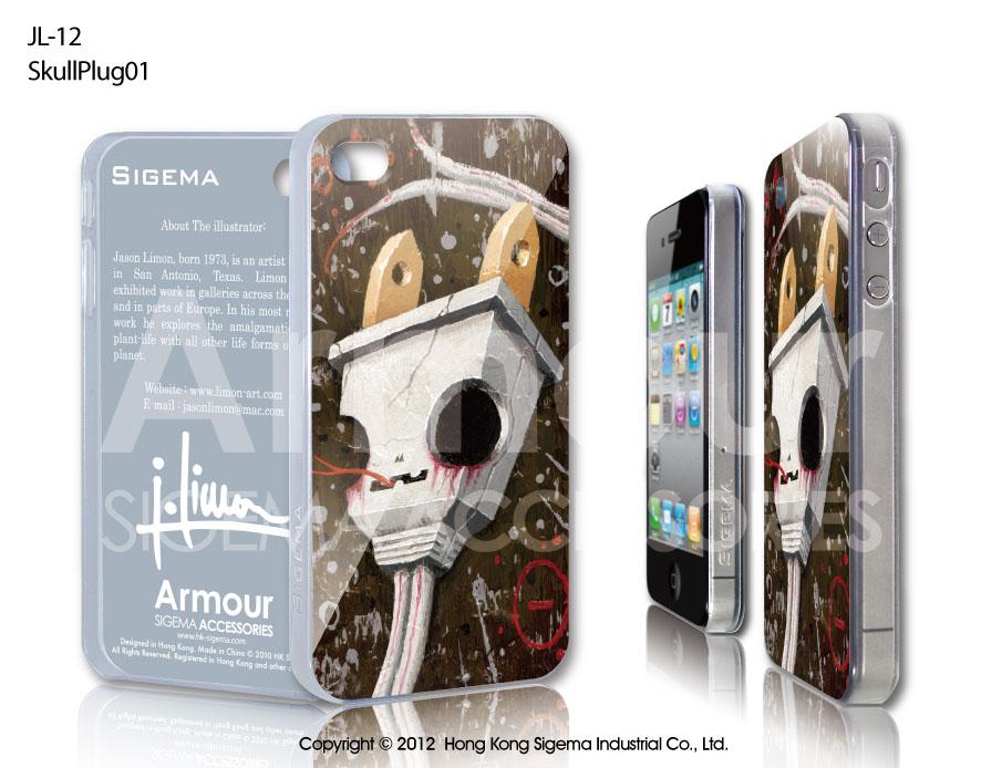 "Чехол для iPhone 4/4s ""Skull Plug01"""