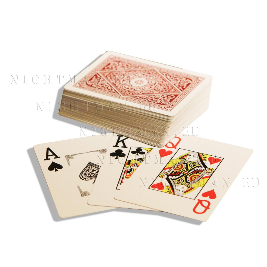 """Покерные карты """"Jumbo Red"""""""