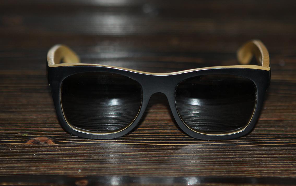 Очки солнечные NM-1123 в деревянной оправе (Бамбук)