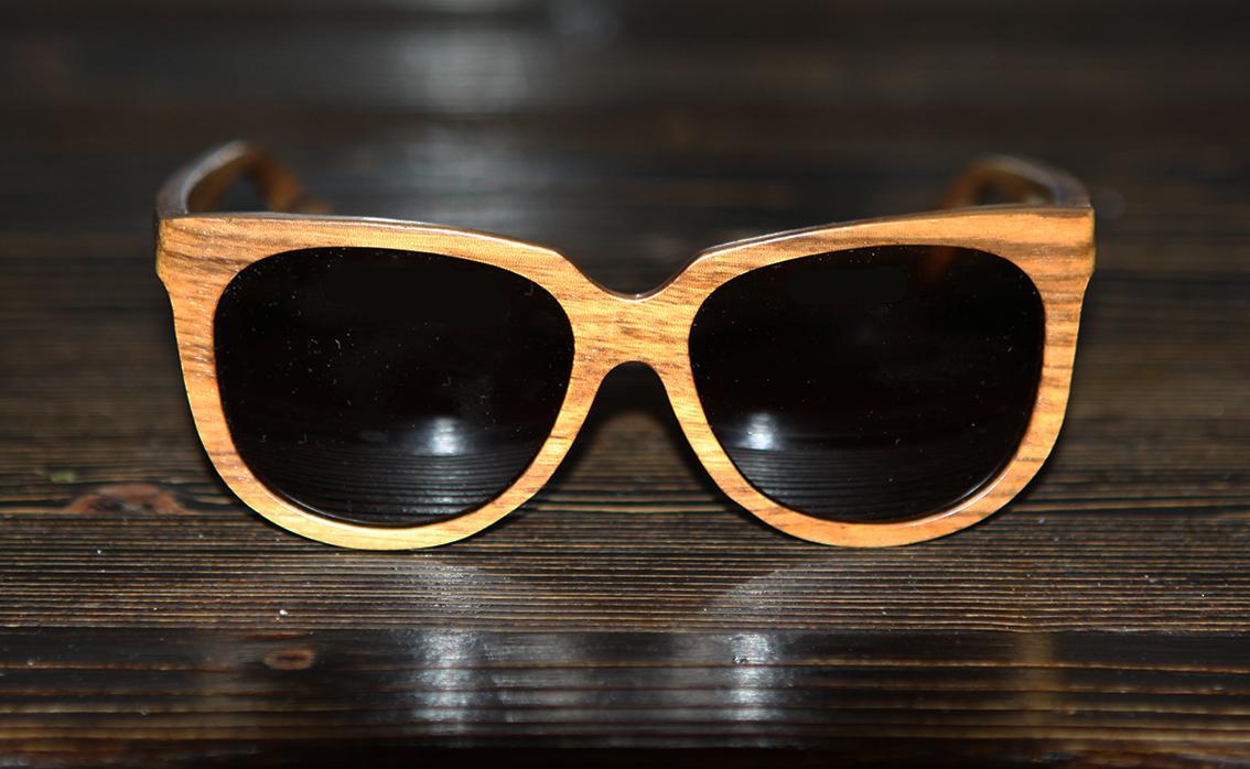 Очки солнечные NM-1129 в деревянной оправе