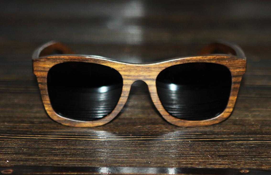 Очки солнечные NM-1141 в деревянной оправе