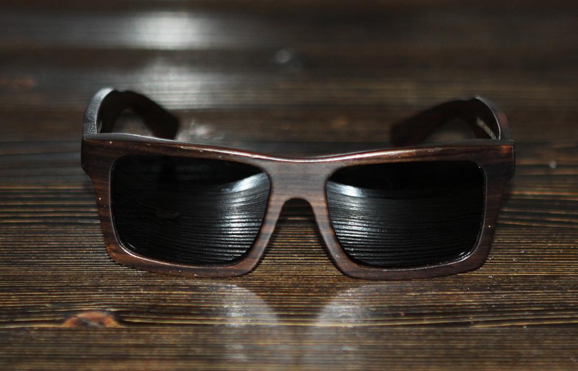 Очки солнечные NM-1194 деревянные (Тёмный Орех)