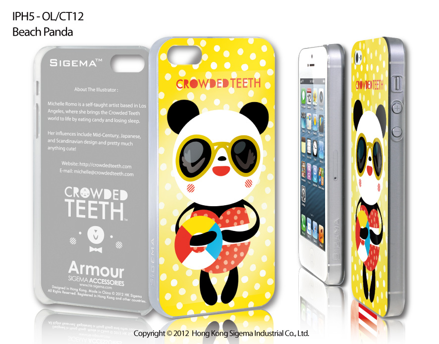 "Чехол для iPhone 5 ""Beach Panda"""