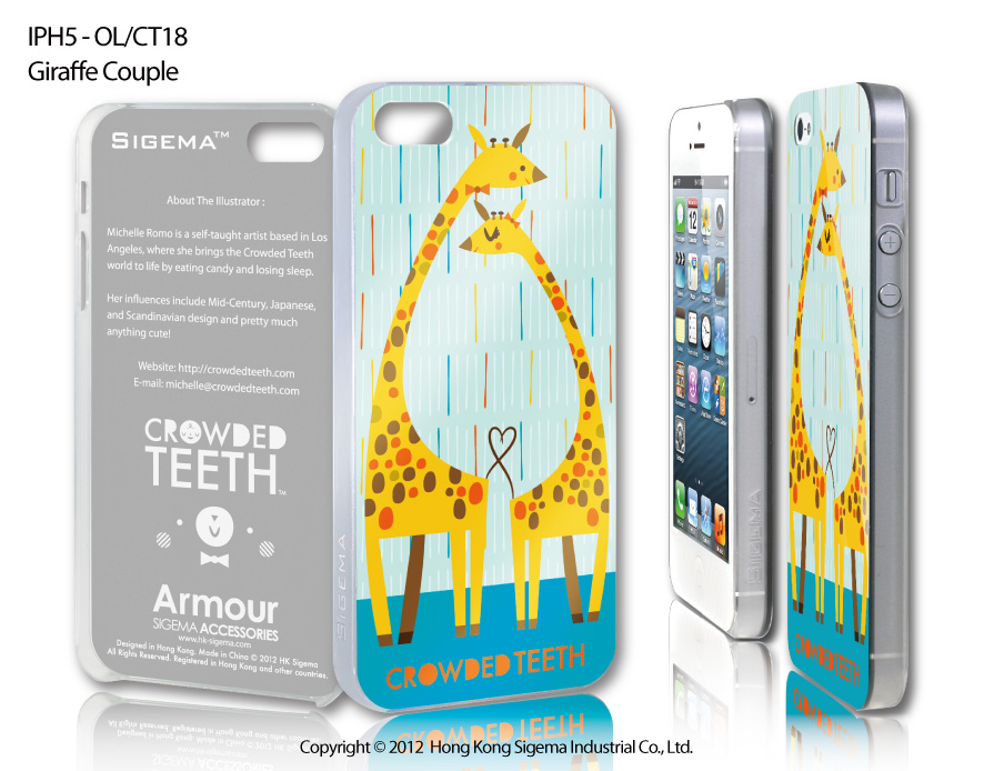"Чехол для iPhone 5 ""Giraffe Couple"""