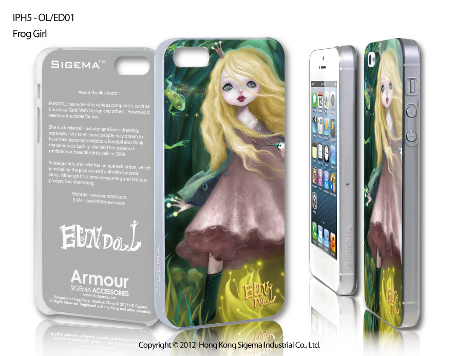 "Чехол для iPhone 5 ""Frog Girl"""
