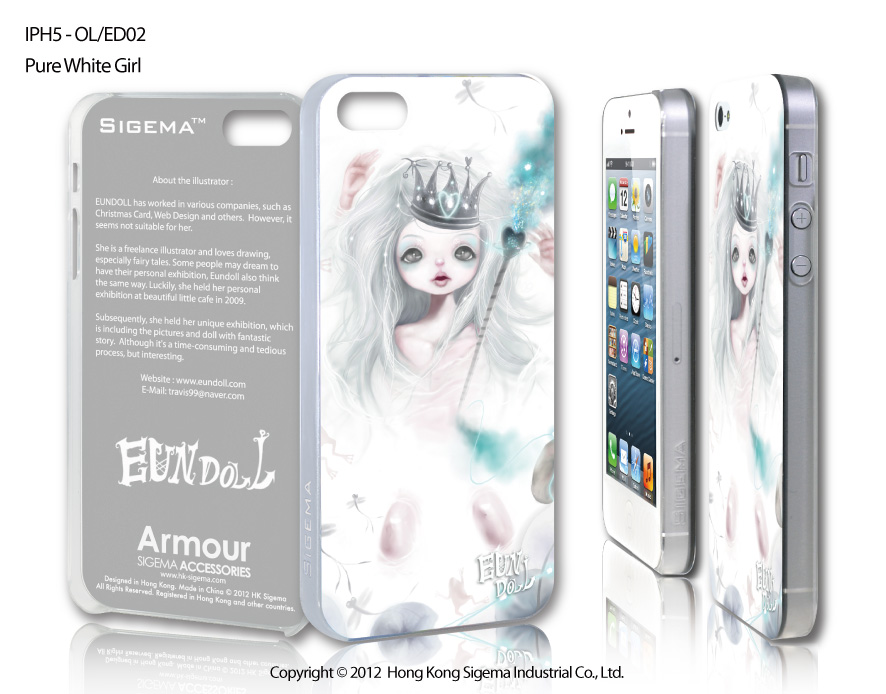 "Чехол для iPhone 5 ""Pure White Girl"""