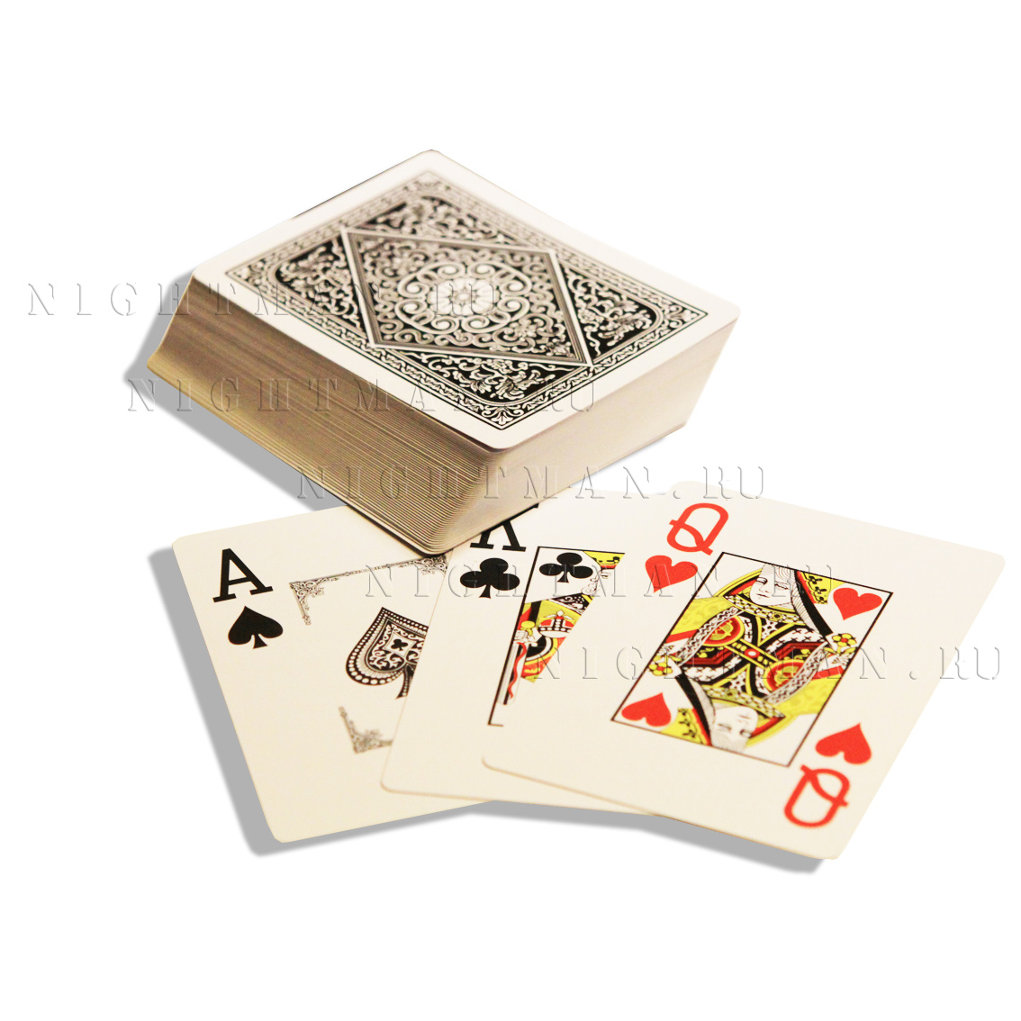 "Покерные карты ""Jumbo Black"""