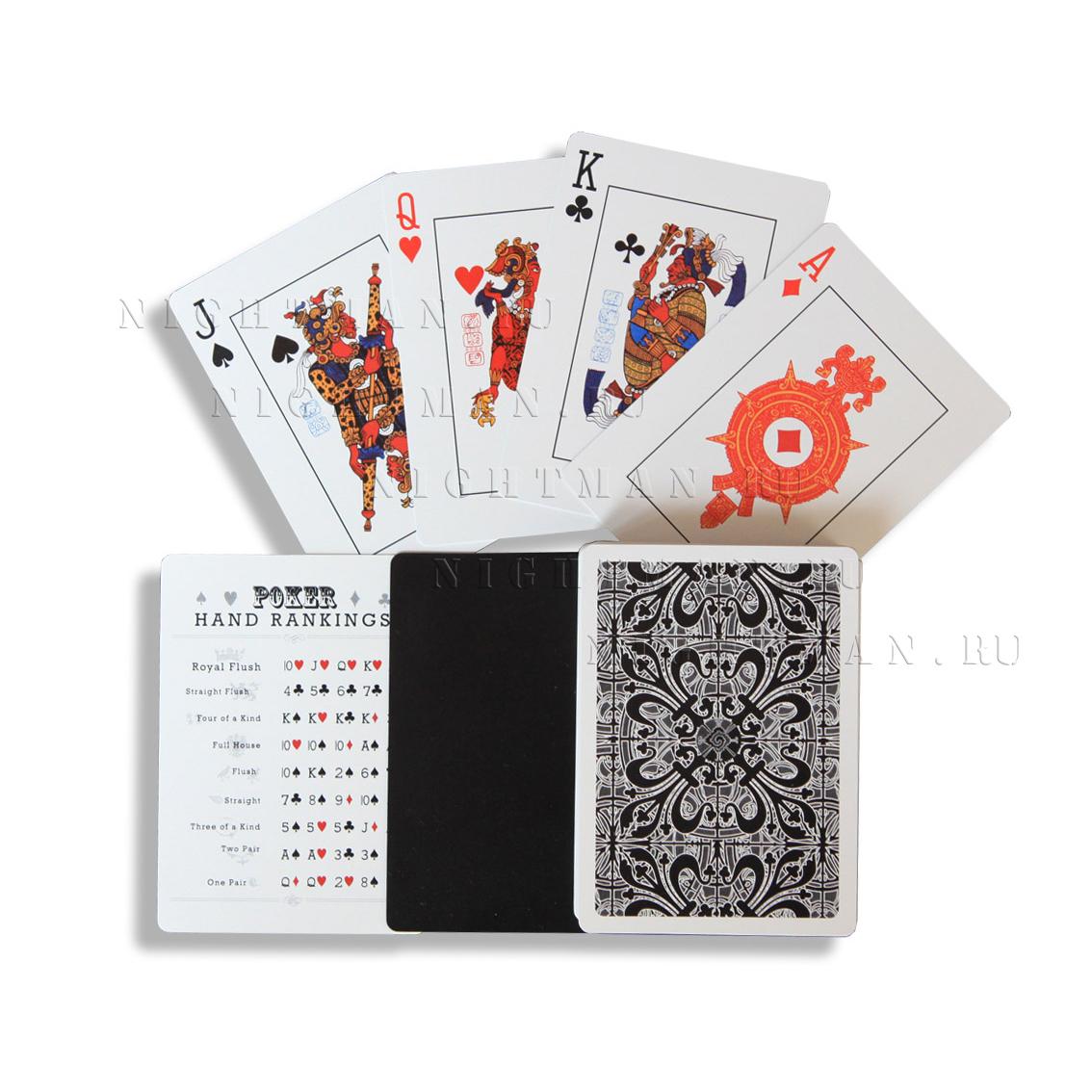 """Покерные карты - """"Maya 2012, Black"""""""